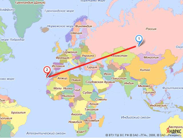Тенерифе где находится на карте